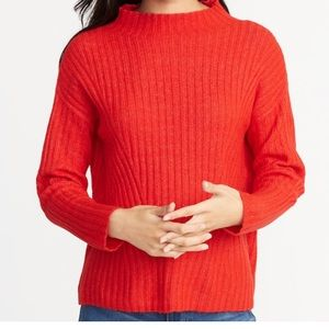 Sweaters - BRAND NEW gorg red mock neck long sleeve sweater